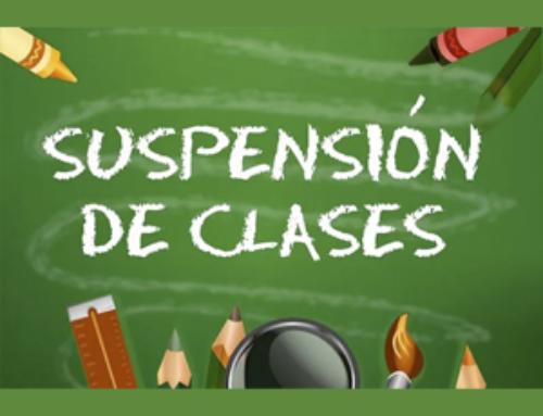 Suspendidas las clases los días 11 y 12 de enero.